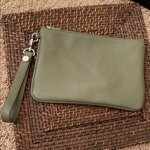 Olive Green Jewell Clutch by Thirty One